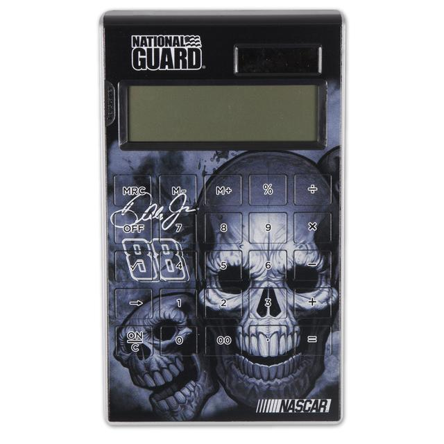 Hendrick Motorsports Dale Jr #88 National Guard Skulls Desktop Solar Calculator