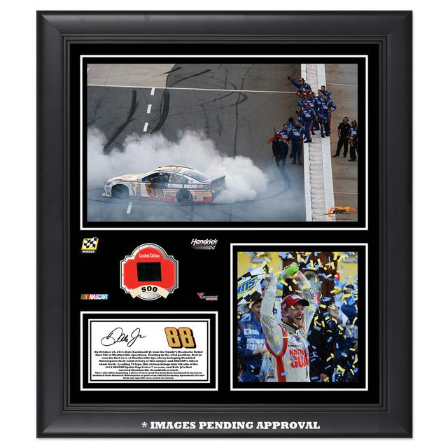 Hendrick Motorsports Dale Jr. 2014 NASCAR Sprint Cup Series Martinsville Race Win Framed 15'' x 17'' Collage With -Used Tire