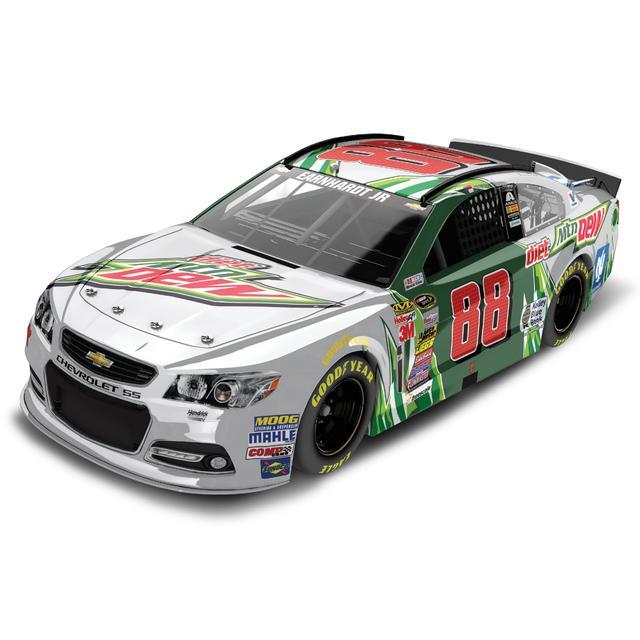 Hendrick Motorsports Dale Jr. #88 1:24 Scale 2015 Diet Mtn Dew Chrome Diecast