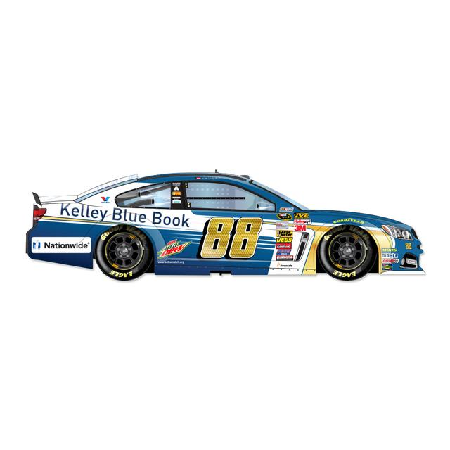 Hendrick Motorsports Dale Jr. #88 1:24 Scale 2015 Kelly Blue Book Chrome Diecast
