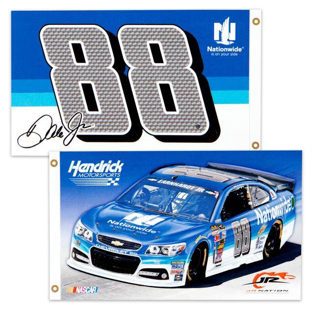 Hendrick Motorsports Dale Jr. 2 Sided 3X5 Flag