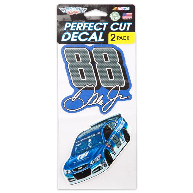 "Hendrick Motorsports Dale Jr. Perfect Cut Decal - 4"" x 4"" Set of Two"