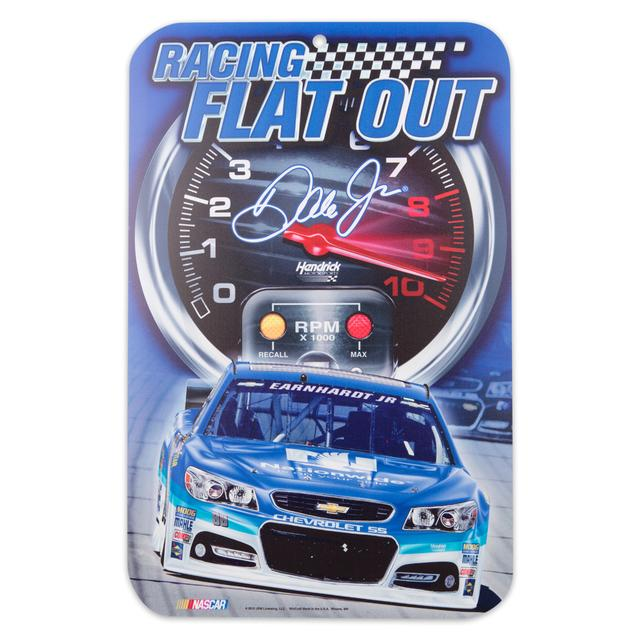 Hendrick Motorsports Dale Jr. Flat Out 11x17 Parking Sign