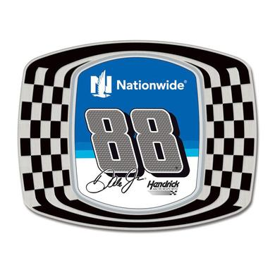 "Hendrick Motorsports Dale Jr. 2 1/2"" Checkered Metal Magnet"