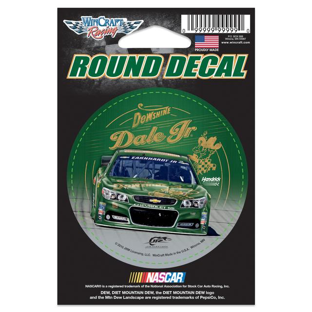 "Hendrick Motorsports Dale Jr. DEWShine 3"" Round Decal"