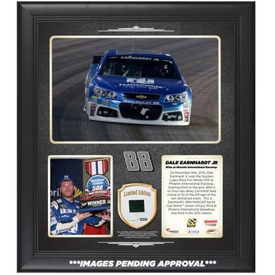 Hendrick Motorsports Dale Jr. #88 2015 Phoenix Race Victory Framed 15'' x 17'' Collage With Race-Used Tire