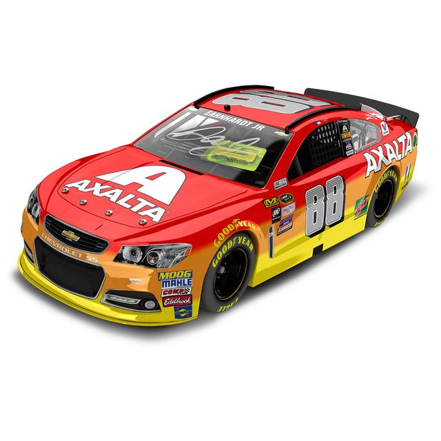 Hendrick Motorsports Dale Jr. 2016 #88 Axalta 1:24 Scale Autographed Nascar Sprint Cup Series Die-Cast