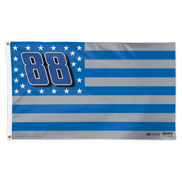 Hendrick Motorsports Dale Jr. #88 Stars and Stripes 3' X 5' Deluxe Flag
