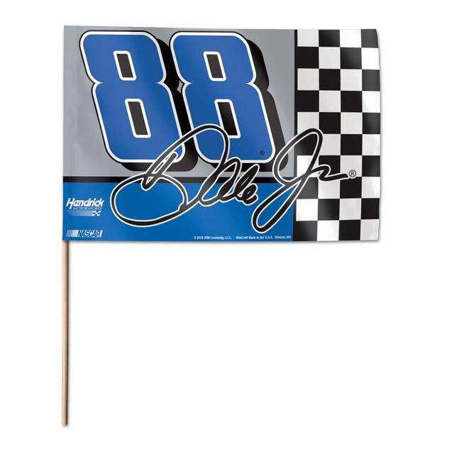"Hendrick Motorsports Dale Jr. #88 Stick Flag 12"" x 18"""