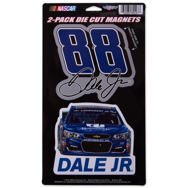 Hendrick Motorsports Dale Jr. #88 6x9 2pk Magnet