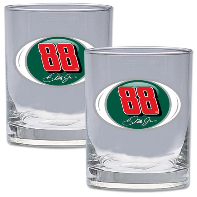 Hendrick Motorsports Dale Jr #88 2 pc Rocks Glass Gift Set
