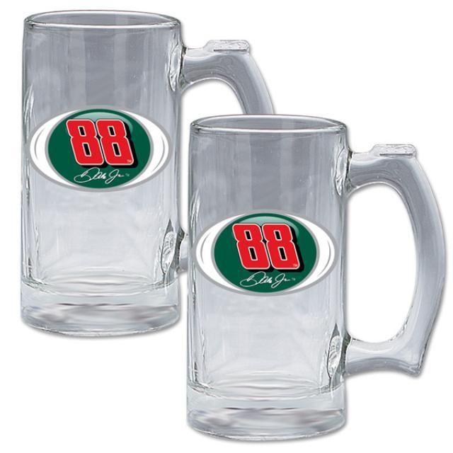 Hendrick Motorsports Dale Jr #88 2 pc Glass Sports Mug Gift Set