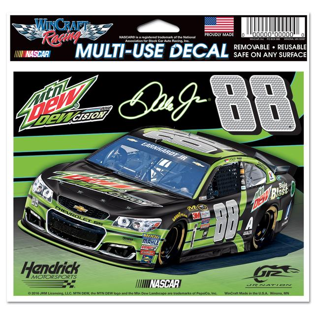 "Hendrick Motorsports Dale Jr. #88 DEWcision 5"" x 6""Multi-Use Decal"