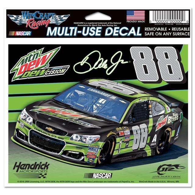"Hendrick Motorsports Dale Jr. #88 DEWcision 5"" x 6""Multi-Use Decal"
