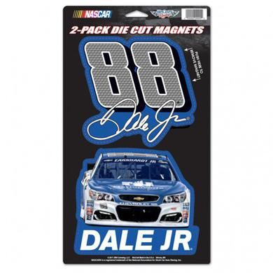 "Hendrick Motorsports Dale Earnhardt Jr 2-pack Magnets - 5"" x 9"""