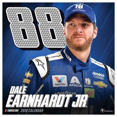 """Hendrick Motorsports Dale Earnhardt Jr. #88 2018 12""""x 12"""" Wall Calendar"""
