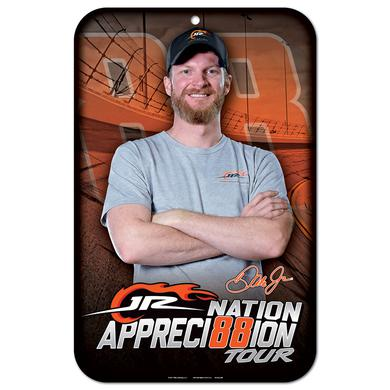 Hendrick Motorsports JR Nation Appreci88ion 11x17 Plastic Sign