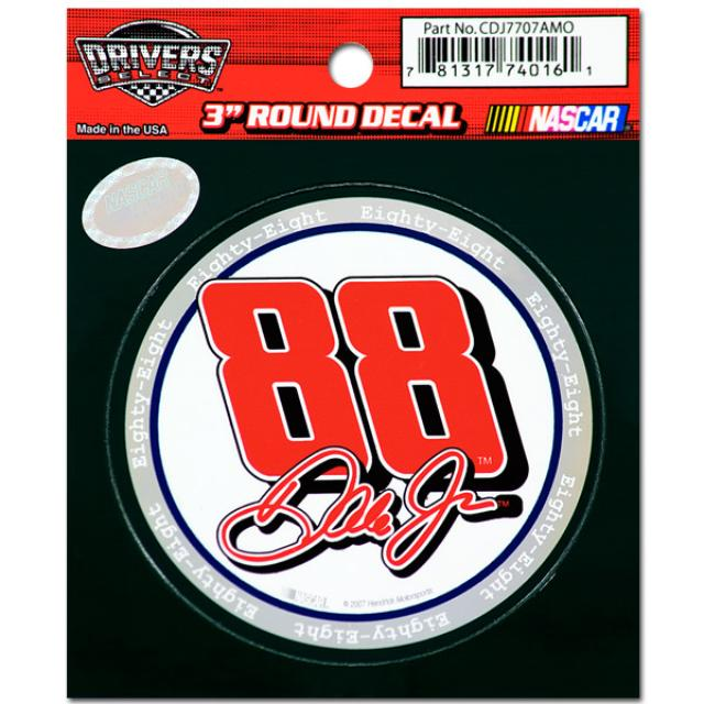Hendrick Motorsports Dale Jr. #88 3 in. Round Decal