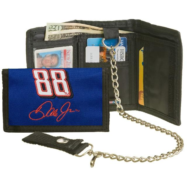 Hendrick Motorsports Dale Jr. #88 Nat'l Guard Nylon Wallet w/ Chain