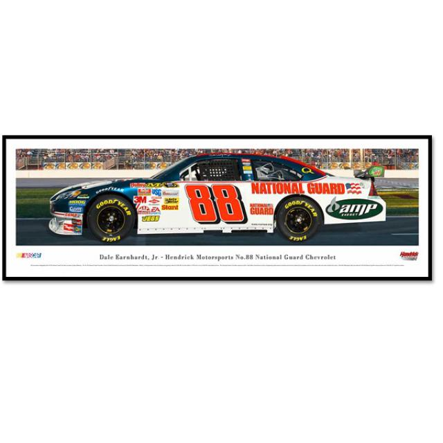 Hendrick Motorsports Dale Jr. #88 National Guard Panoramic Photo - Framed
