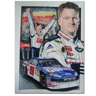 Hendrick Motorsports Dale Jr. #88 Bud Shootout WIN Print