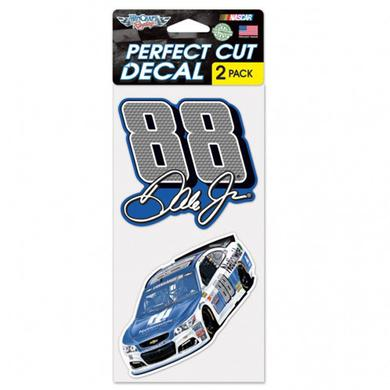 "Hendrick Motorsports Dale Earnhardt Jr Perfect Cut Decal (set of 2) - 4"" x 4"""