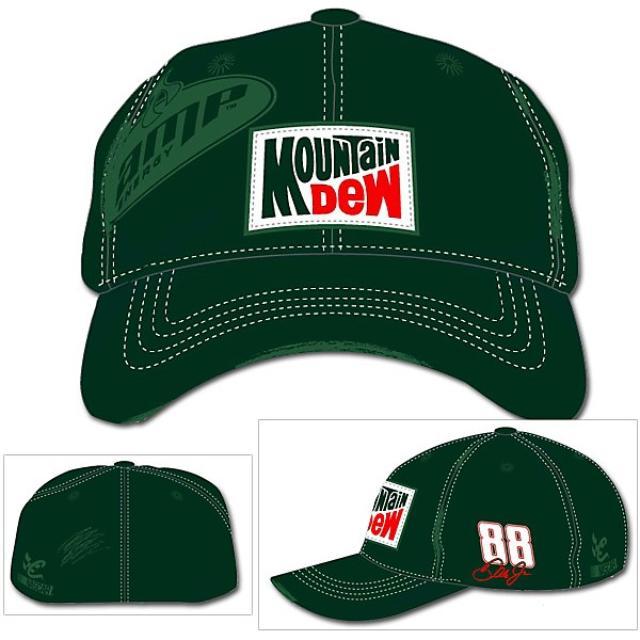 Hendrick Motorsports Mountain Dew Stretch Hat