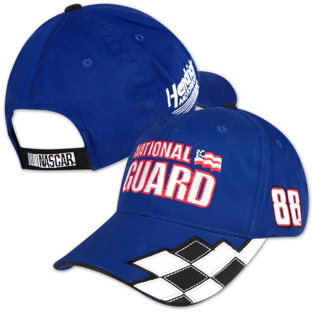 Hendrick Motorsports Dale Jr National Guard Checkered Adj Cap Navy OSFA