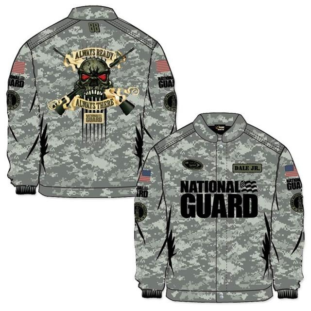 Hendrick Motorsports Dale Jr. #88 National Guard Defending Freedom Skull Jacket