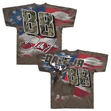 Hendrick Motorsports Dale Jr. #88 True Timber Patriotic Camo Total Print Tee