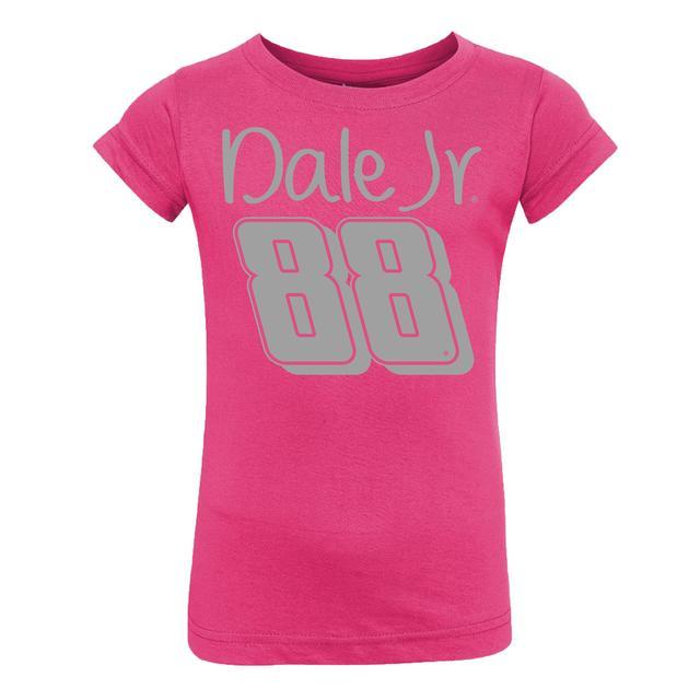 Hendrick Motorsports Dale Jr. Toddler Glitter Girl T-shirt