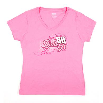 Hendrick Motorsports Dale Jr. #88 Fan Ladies V-Neck T-Shirt