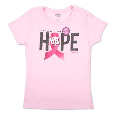 Hendrick Motorsports Dale Earnhardt, Jr. #88 Ladies Breast Cancer Awareness Hope T-Shirt