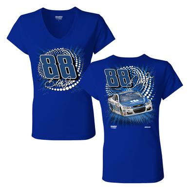 Hendrick Motorsports Dale Earnhardt, Jr. Ladies Dyno V-neck T-shirt - Nationwide