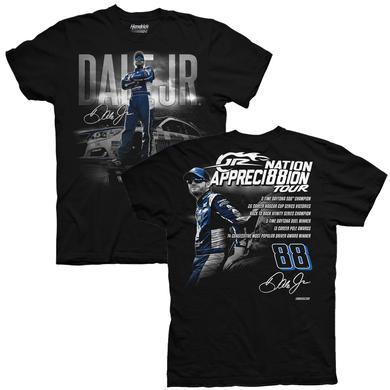 Hendrick Motorsports JR Nation Appreci88ion Tour Stats T-shirt