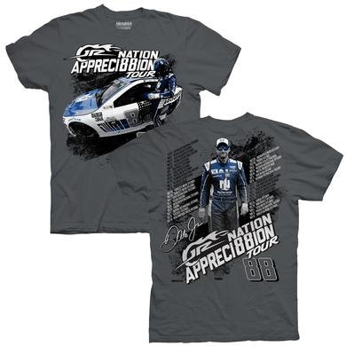 Hendrick Motorsports JR Nation Appreci88ion Tour Schedule T-shirt