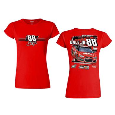 Hendrick Motorsports Dale Jr #88 2017 Homestead/Miami Axalta Ladies Car T-shirt