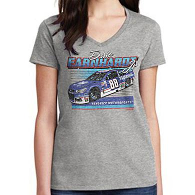 Hendrick Motorsports Dale Earnhardt Jr 2017 #88 Darlington Ladies Car T-shirt