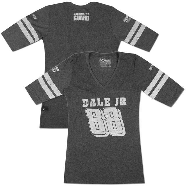 Hendrick Motorsports Dale Jr #88 National Guard Ladies Varsity 3/4 T-shirt
