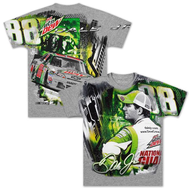 Hendrick Motorsports Dale Jr #88 MtDew Velocity Total Print T-shirt