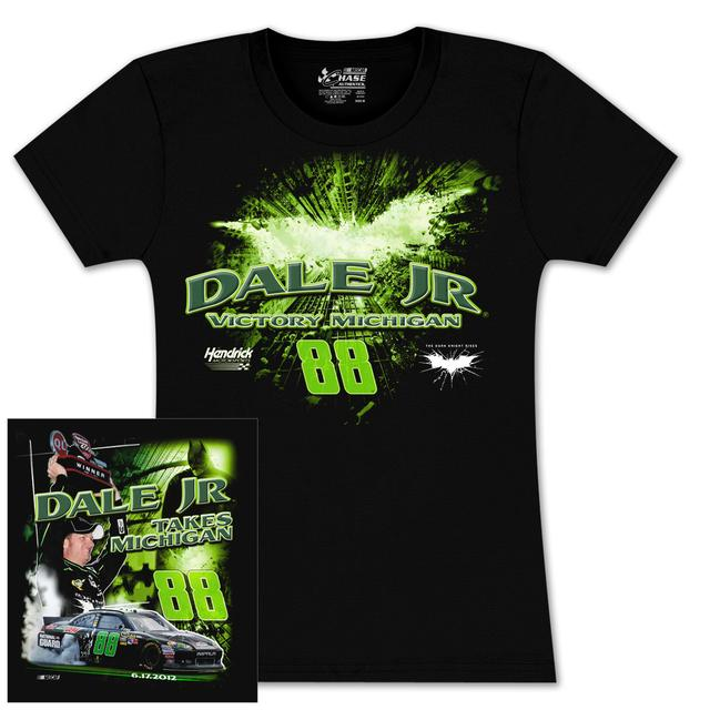 Hendrick Motorsports Dale Jr Michigan WIN 2012 Ladies T-shirt