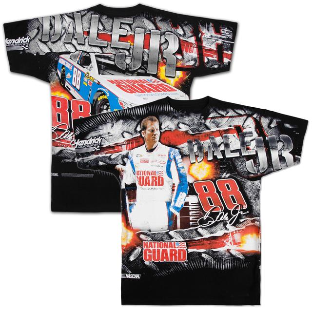 Hendrick Motorsports Dale Jr #88 National Guard Extreme Total Print T-shirt