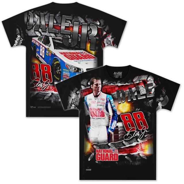 Hendrick Motorsports Dale Jr #88 Diet Mt Dew Extreme Total Print T-shirt