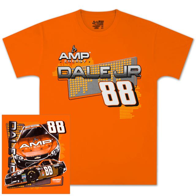 Hendrick Motorsports Dale Jr #88 AMP Orange T-shirt
