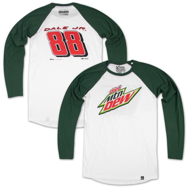 Hendrick Motorsports Dale Jr #88 Diet Mt Dew Varsity Baseball Jersey T-shirt