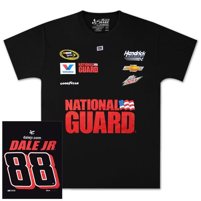 Hendrick Motorsports Dale Jr. #88 Mountain Dew / National Guard Uniform T-shirt