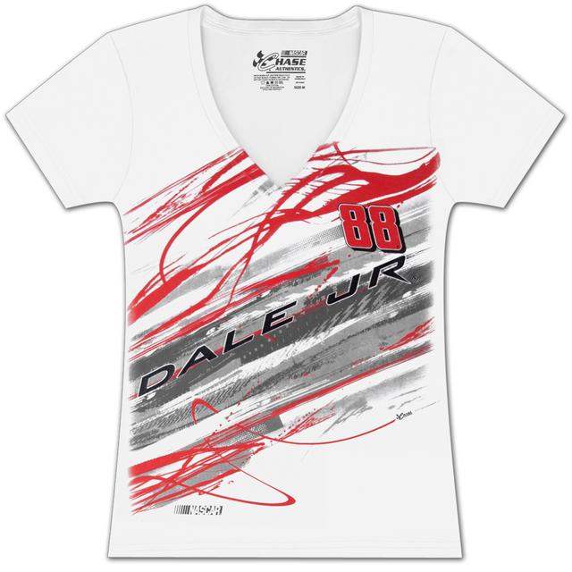 Hendrick Motorsports Dale Jr. #88 Ladies Lightning Fashion T-shirt