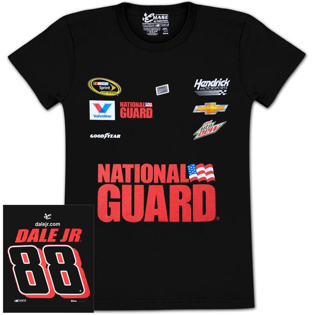 Hendrick Motorsports Dale Jr. #88 Mt Dew / National Guard Ladies Uniform T-shirt