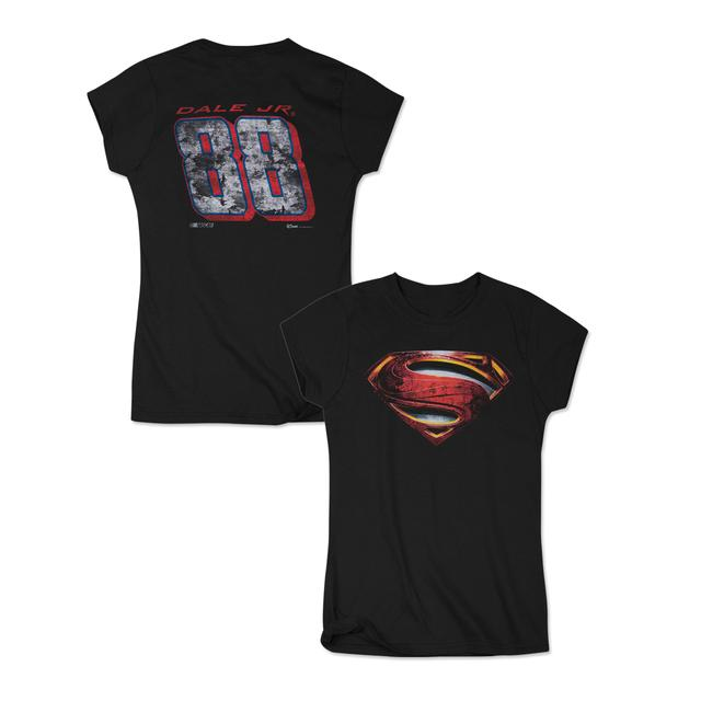 Hendrick Motorsports Dale Jr National Guard Superman Ladies T-shirt