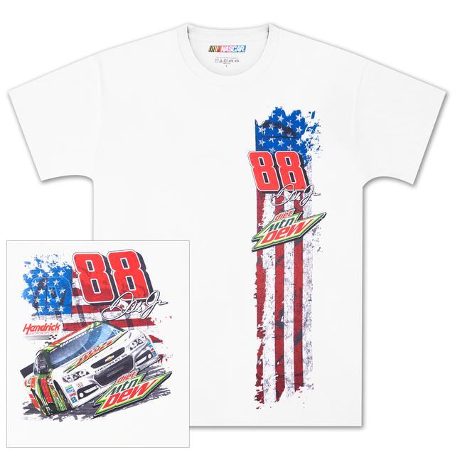 Hendrick Motorsports Dale Jr #88 Flag Stripe T-shirt